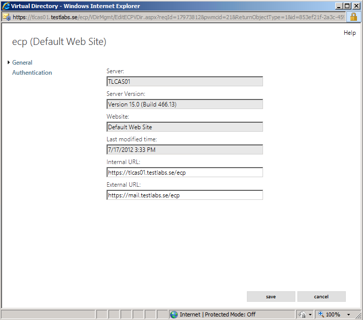 Site Url: Exchange Server 2013 Preview
