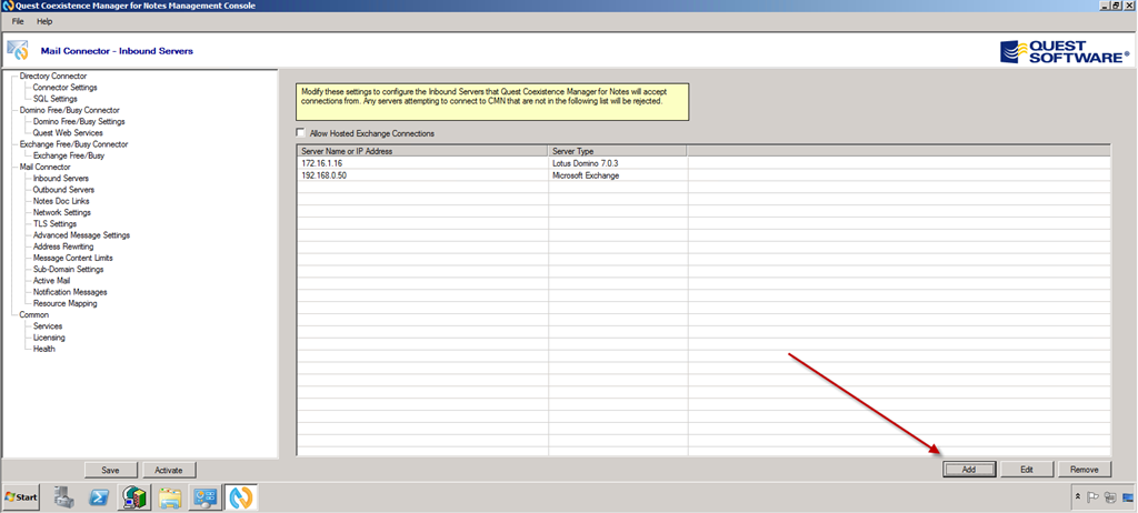 Part 8: Configuring Coexistence Manager for Notes with