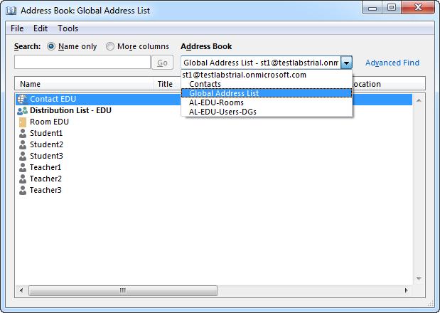 Office 2010 Offline Address Book
